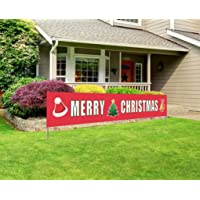 Merry Christmas Banner   Large Xmas Sign   Huge Xmas House Home Outdoor Party Decoration