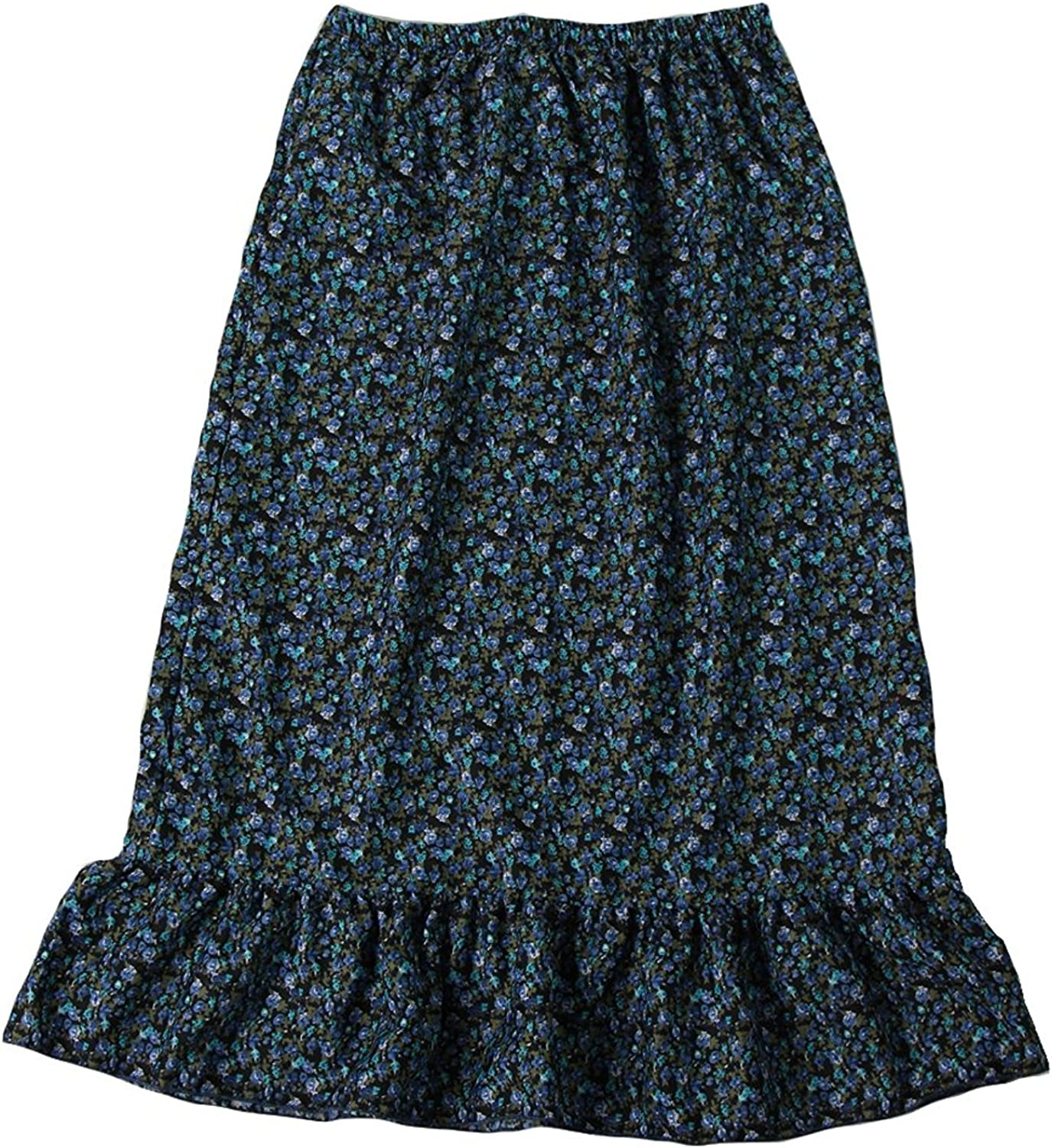 Girls Calico Pioneer Peasant Costume Skirt Choose Color and Size