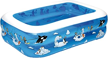 Fridola Wehncke 12450 My First Pool - 4in1 Piscina Hinchable para niños, 143x106x36cm: Amazon.es: Juguetes y juegos