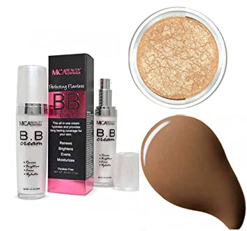 98d610bf8fb9 MicaBeauty BB Cream + Itay Mineral Eye Shimmer Highlights Elegance (Bundle  of 2 Items) (Chocolate)