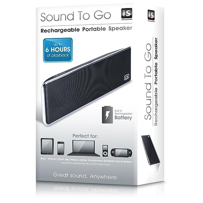 Amazon.com: I. Sound Sound to go 3.5 mm AUX Altavoz portátil ...