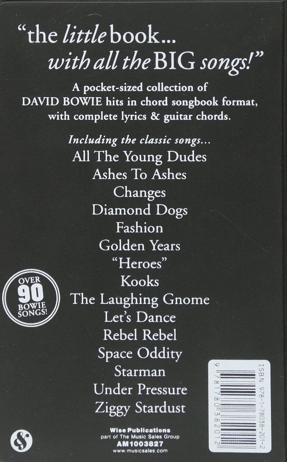 The Little Black Songbook David Bowie Unknown 9781780382012