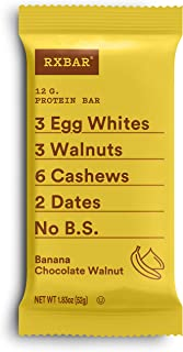 product image for RXBAR, Banana Chocolate Walnut, Protein Bar, 1.83 Ounce (Pack of 12), High Protein Snack, Gluten Free