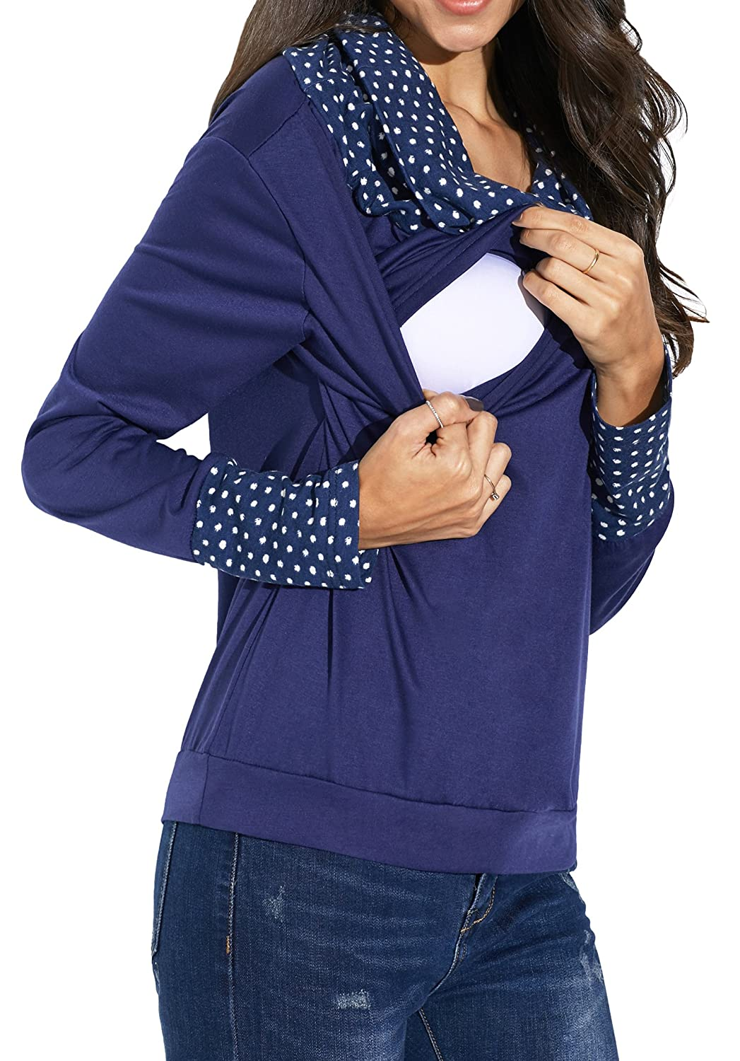 3599b77de77 Design  Double layers with stretchy for nursing and convenient breastfeeding   Just pull the outer ...