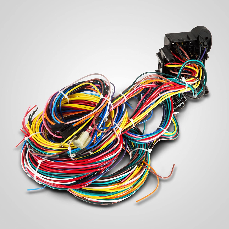 Vevor 21 Circuit 17 Fuses Wiring Harness Street 12 Ez Wire Universal Door Locks Wires Power Windows Car Electronics
