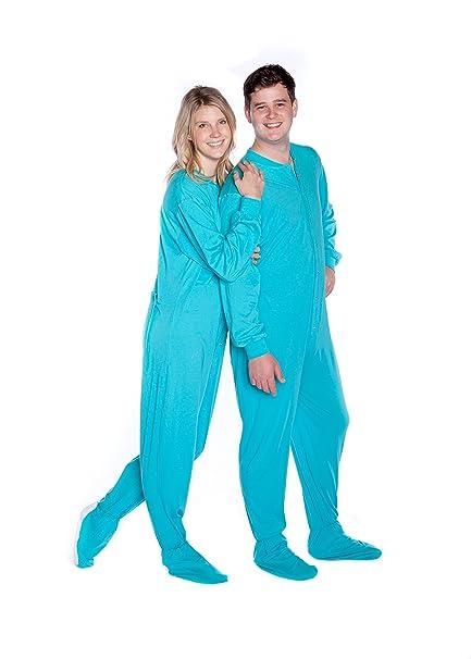 Big Feet Pajama Co. Algodón Jersey Knit Footie Adulto de Patas Pijamas w/Bum de la Aleta: Amazon.es: Ropa y accesorios