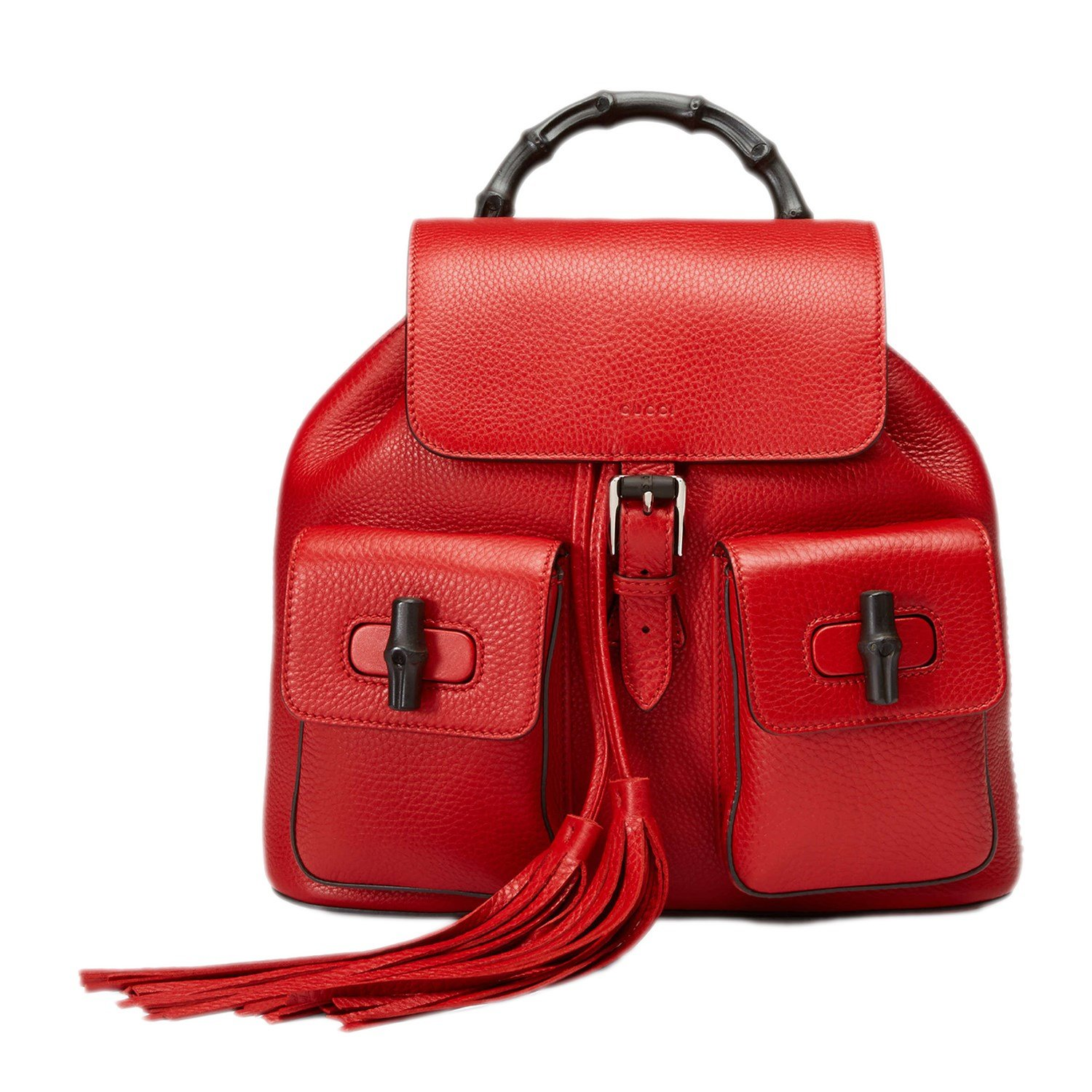3ffe4eb1fc6ca Gucci Bamboo Leather Backpack 370833 6433 Red  Amazon.ca  Clothing    Accessories