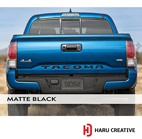 BLUE Tailgate Insert Letters Decal Vinyl Stickers Decals for 2016 Toyota Tacoma