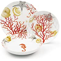 Excelsa Coral vajilla de 18piezas, Porcelana, Rojo