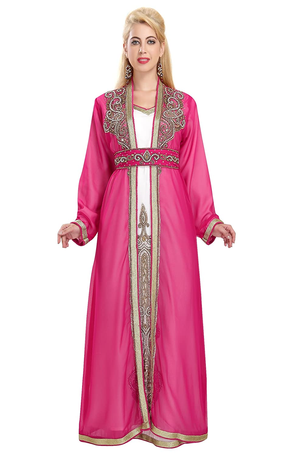 Robe Dubai Khaleeji Thobe Caftan With Unique Design By Maxim Creation 5866