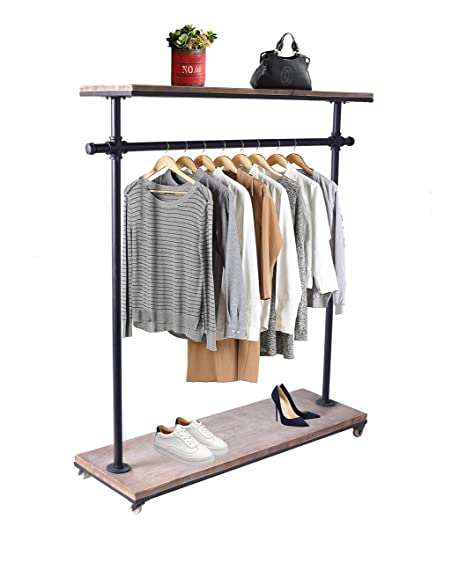 Amazon.com: LOKKHAN - Perchero de 2 niveles para ropa, para ...