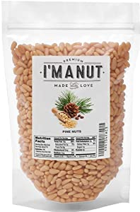 Raw Pine Nuts 1 LB (Whole and Natural) NO PPO, Steam Pasteurized , Great for Pesto, Salads, or Roasting,- By I'M A NUT