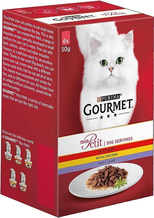 Purina Gourmet Mon Petit - Comida para gato mojado, 300 g (paquete ...