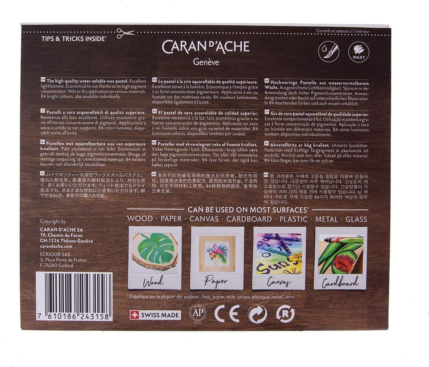 Caran dAche NeoColor 2 Water Soluble Wax Pastel Set 30//Pkg