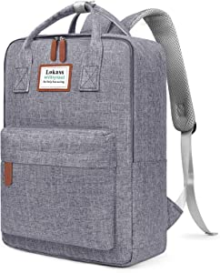 SOCKO Laptop Backpack for Women Men Stylish College Backpack School Bag Lightweight Bookbag Travel Work Carry On Backpack Casual Daypack Rucksack Computer Bag Fits up to 15.6 Inch Laptop, Gray