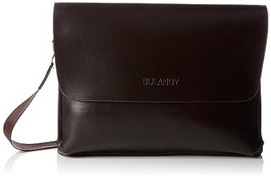 6ba8c5addc8e7 sulandy  Fashion Herren Leder mit Leinwand Umhängetasche Tasche Mann  Business Casual Laptop Bag Aktentasche Leder