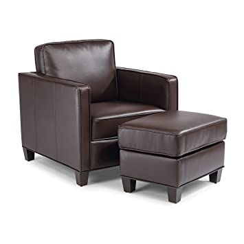 Super Amazon Com Bradley Dark Brown Upholstered Club Chair And Ncnpc Chair Design For Home Ncnpcorg