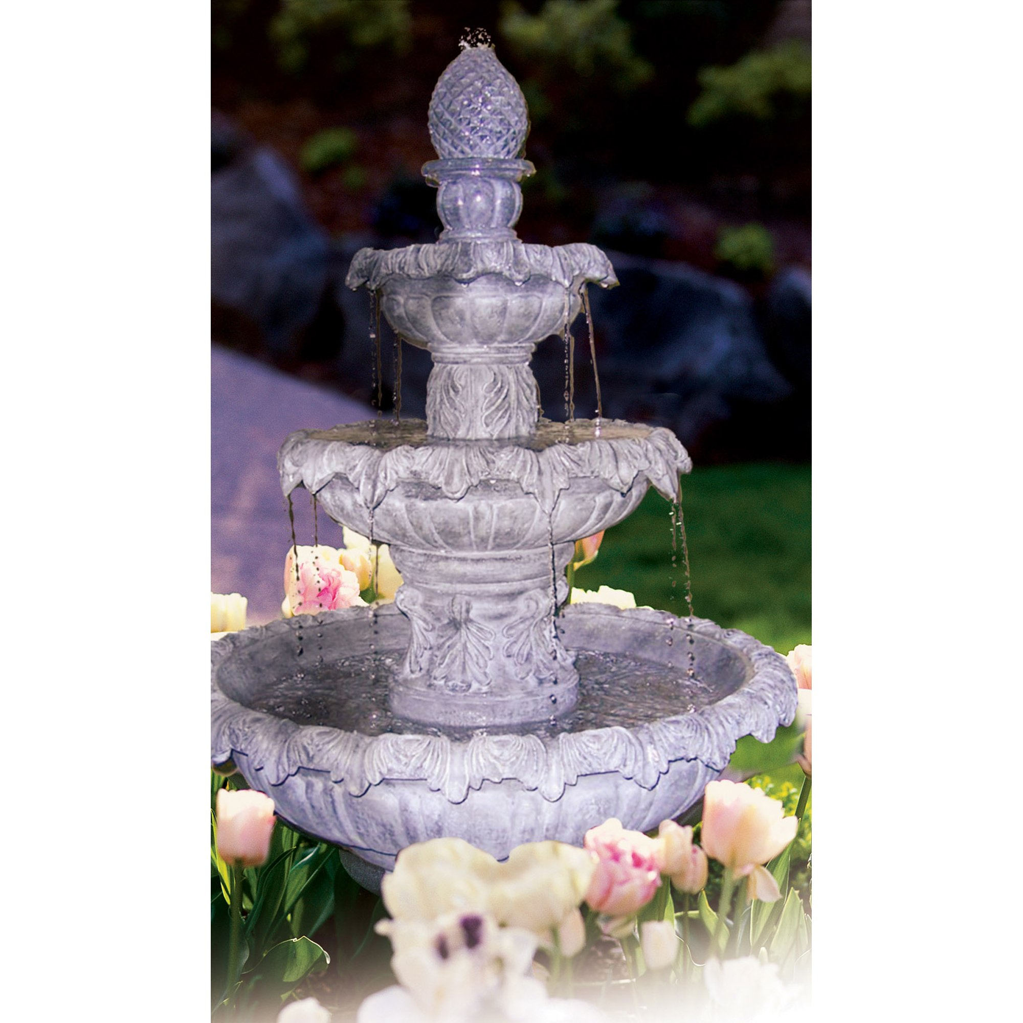 Kenroy Home 53200PLBZ Costa Brava 46-Inch 56-Pound High Outdoor Fountain, Plum Bronze Finish