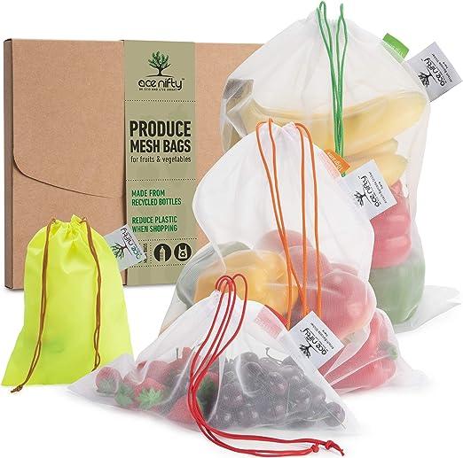 Ace Nifty Bolsas reutilizables para producir botellas recicladas ...