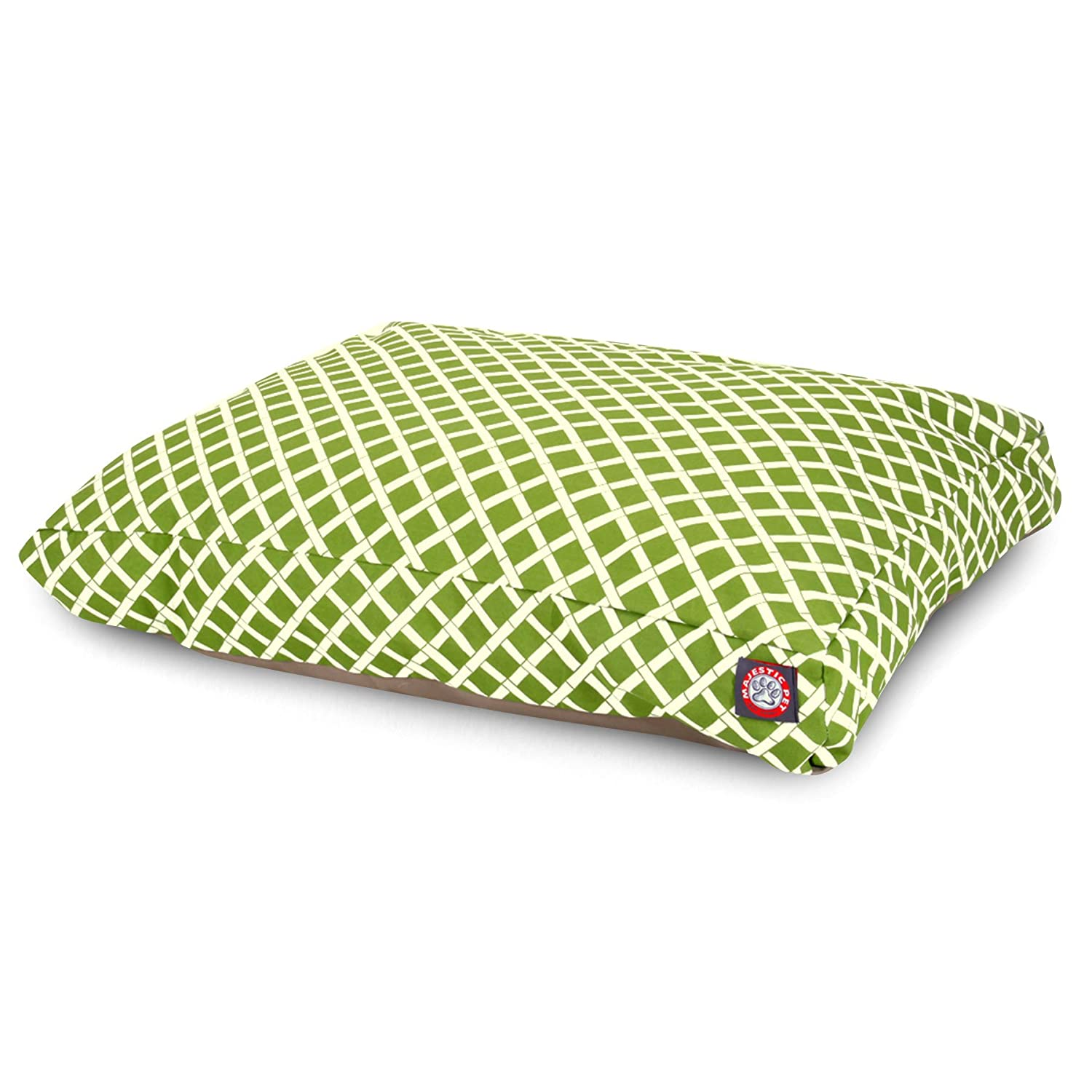Sage Green LMajestic Pet Burnt orange Bamboo Large Rectangle Indoor Outdoor Pet Dog Bed With Removable Washable Cover Products