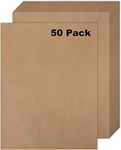 50 Kraft Paper - Rustic Sketch Drawing Art Paper - Journal & Scrapbooks Ideal for Brown Stationery Paper, D.I.Y. Project - Letter Size Kraft Paper - Laser & Inkjet Printer 8.5 x 11 Inches