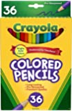 Crayola Colored Pencils, Long, 36-Pack, Multicolor