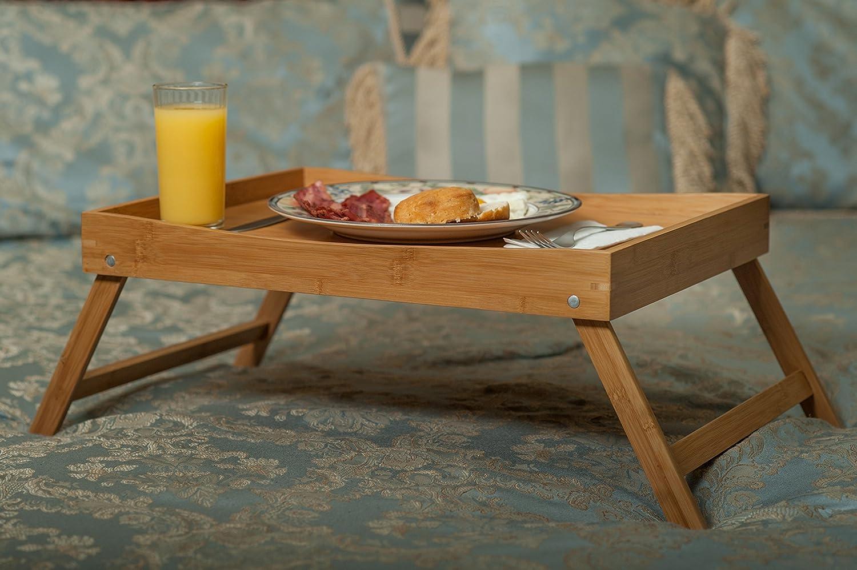 Amazon SB Trays Folding Bamboo Bed Tray Serve breakfast in