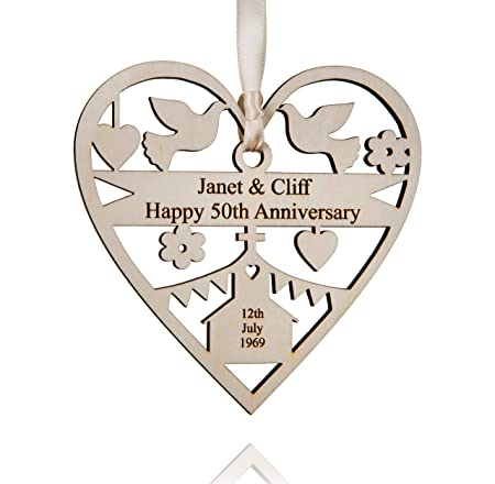 alphabet barn personalised wedding anniversary gift wooden heart