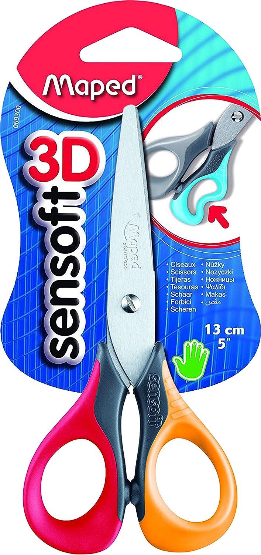Forbici 13/cm MAPED SENSOFT 3d Blu chiaro//rosa