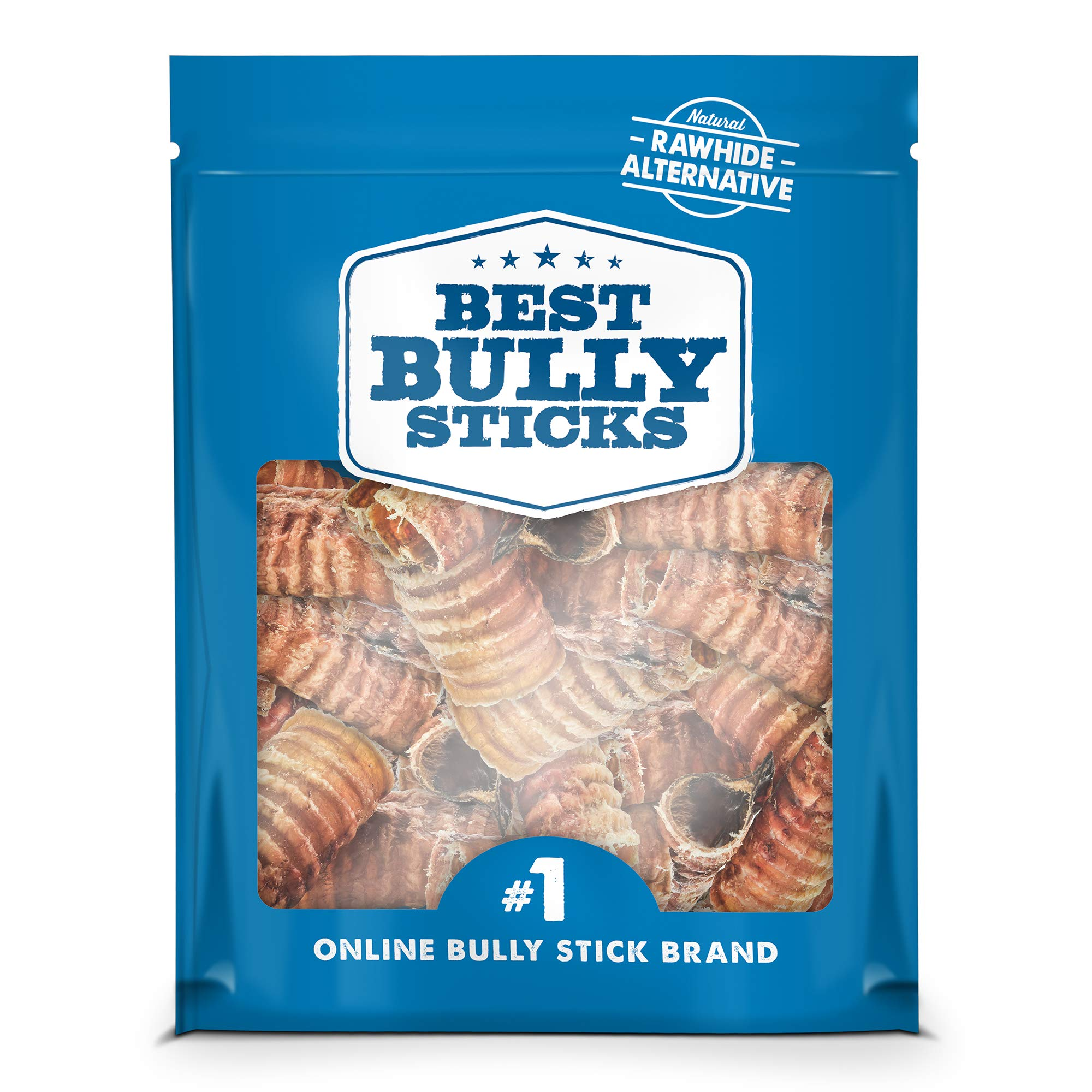 Best Bully Sticks Premium 3-inch Beef Trachea Dog Chews (50 Pack) - All-Natural, Grain-Free, 100% Beef, Single-Ingredient Dog Treat Chew - Promotes Dental Health by Best Bully Sticks