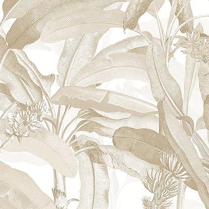 Norwall Mh36536 Polynesian Leaves Wallpaper Wallpaper