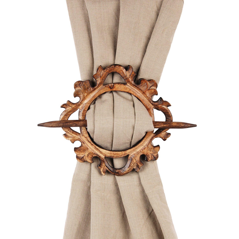 Fathers Day Gifts Wooden Curtain Tiebacks Holdbacks Set of 2 Window Treatment Drape Binds |Handmade| Home Decor