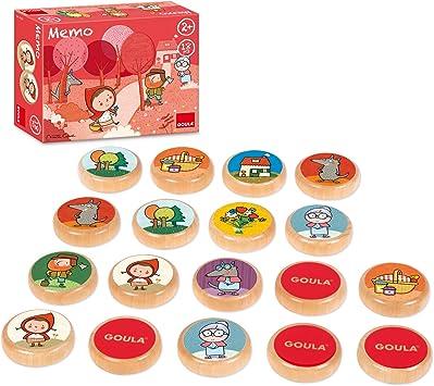 Goula - Memo Caperucita Roja, juego de mesa (Diset 53436) , color/modelo surtido: Amazon.es: Juguetes y juegos