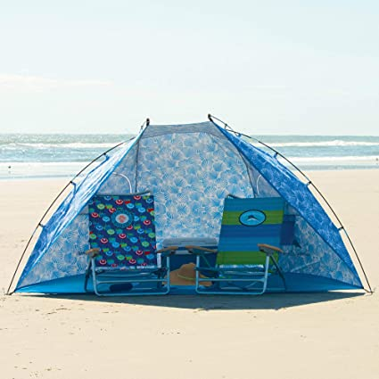 1f00984c5c28 Tommy Bahama 9ft Wide Portable Sun Shelter/Tent/Beach Umbrella with  Zippered Windows &