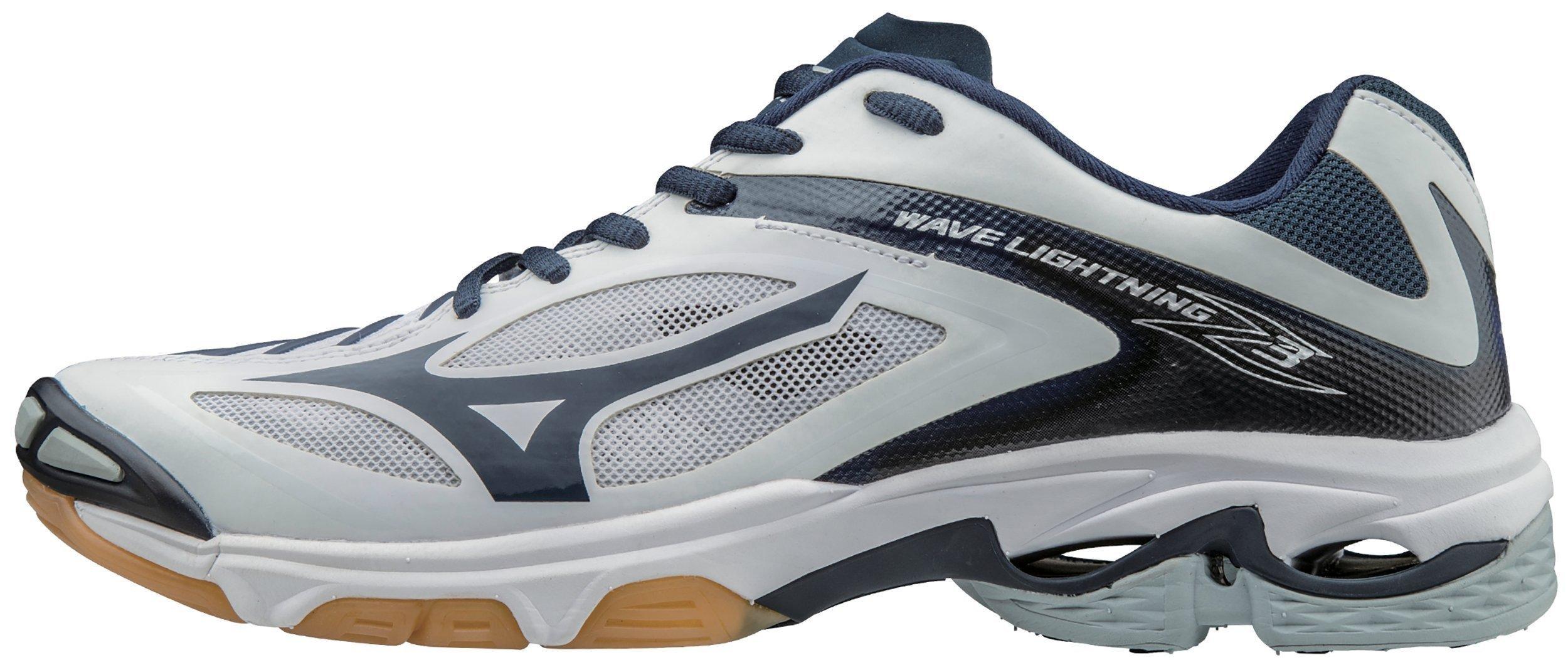 Mizuno Women's Wave Lighting Z3 Volleyball Shoe,White/Navy,9 B US