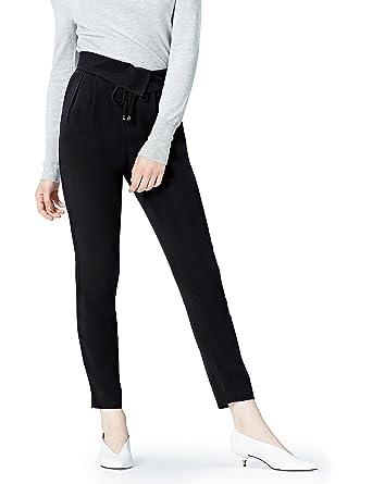 0588fb0cd89 FIND Pantalones de Pinzas para Mujer  Amazon.es  Ropa y accesorios