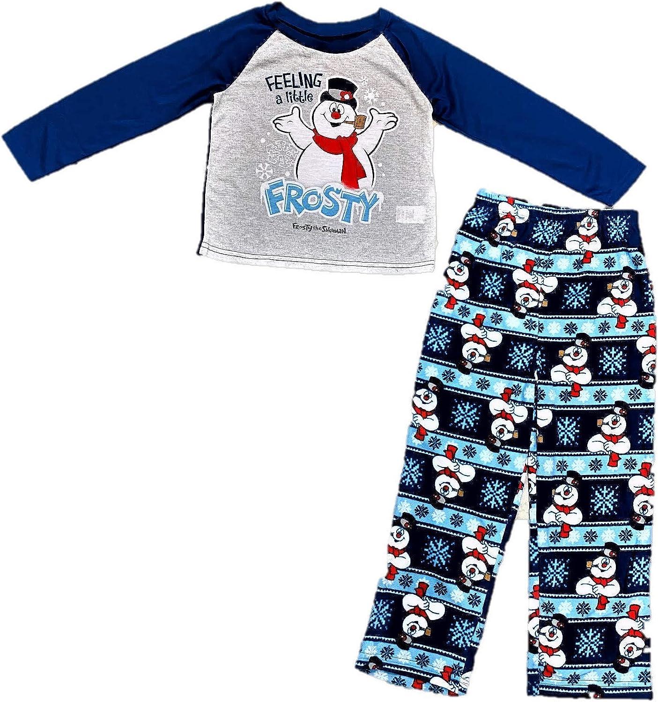 INTIMO Baby Boys Infant Frosty The Snowman 4-Piece Pajama Set