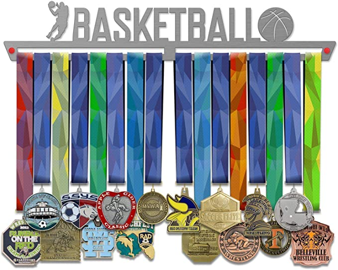 Basketball Medal Hanger Display V2 | Sports Medal Hangers | Stainless Steel Medal Display | by VictoryHangers - The Best Gift For Champions!: Amazon.es: Deportes y aire libre
