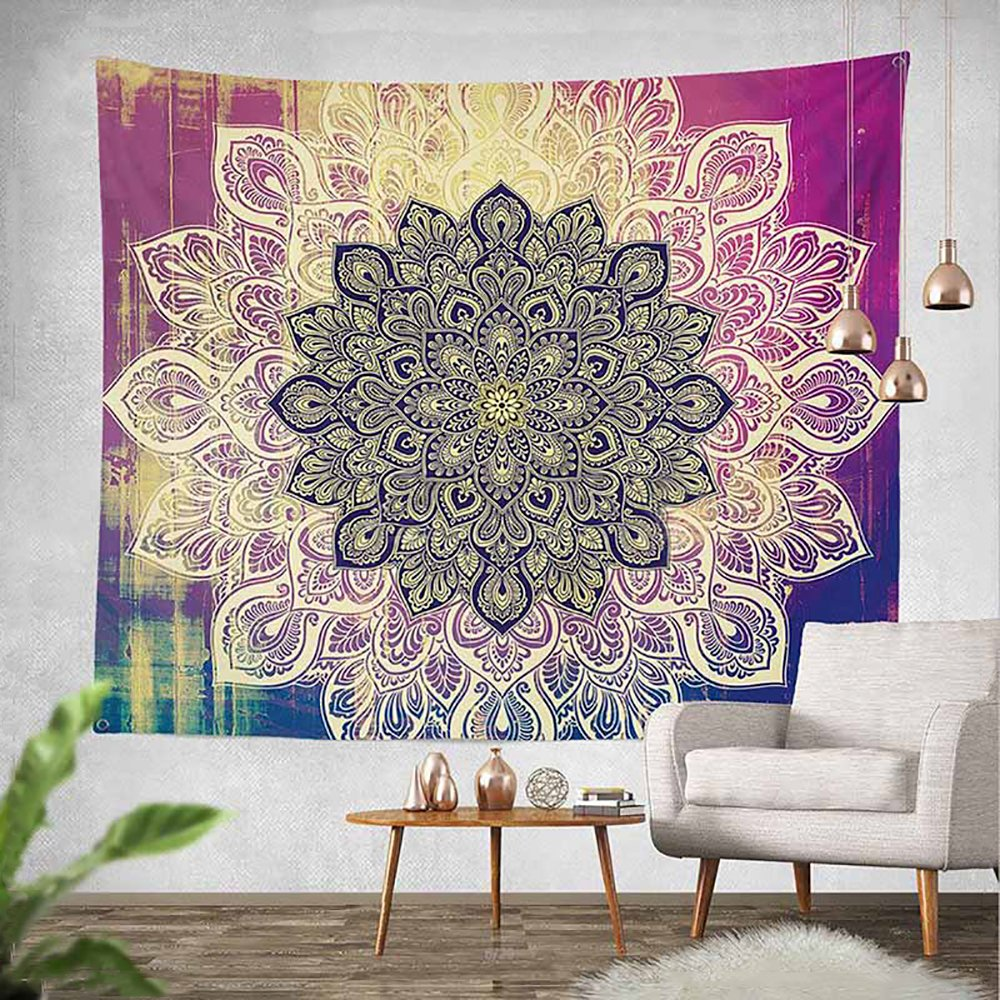 Sky castle Mandala Tapestry Wall Hanging Colorful Watercolor Printed Nature Home Decor for Living Room Bedroom Dorm Room 59.1''x78.7''- Mandala
