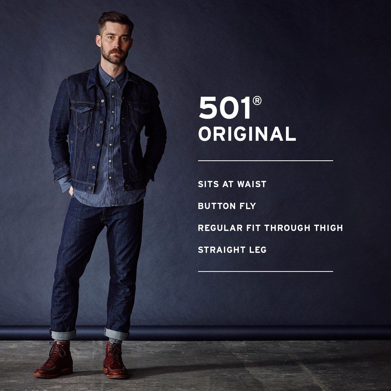 Levi's Men's 501 Original Fit Jean, Medium Stonewash, 34x32
