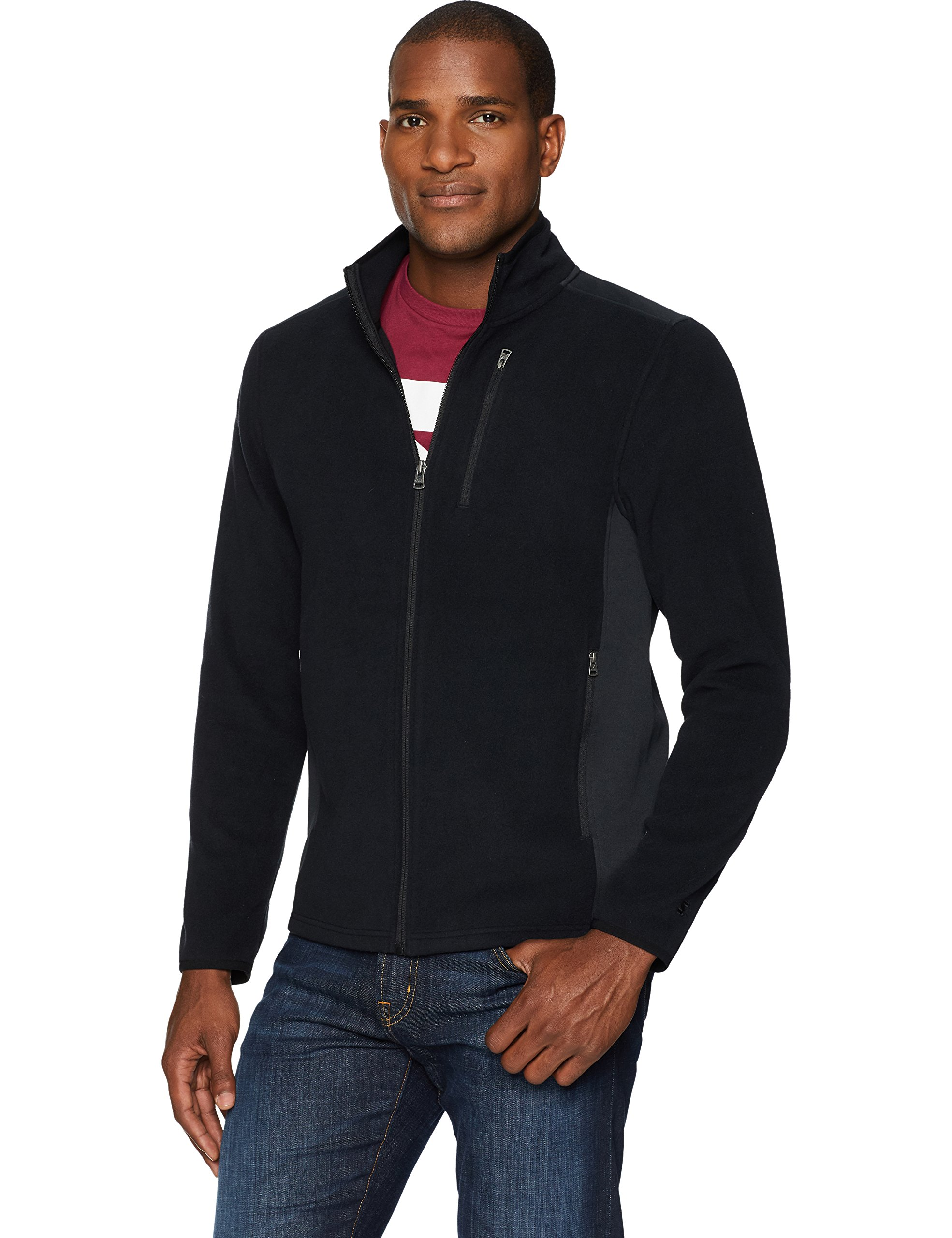 Starter Men's Polar Fleece Jacket, Prime Exclusive, Black, Medium by Starter