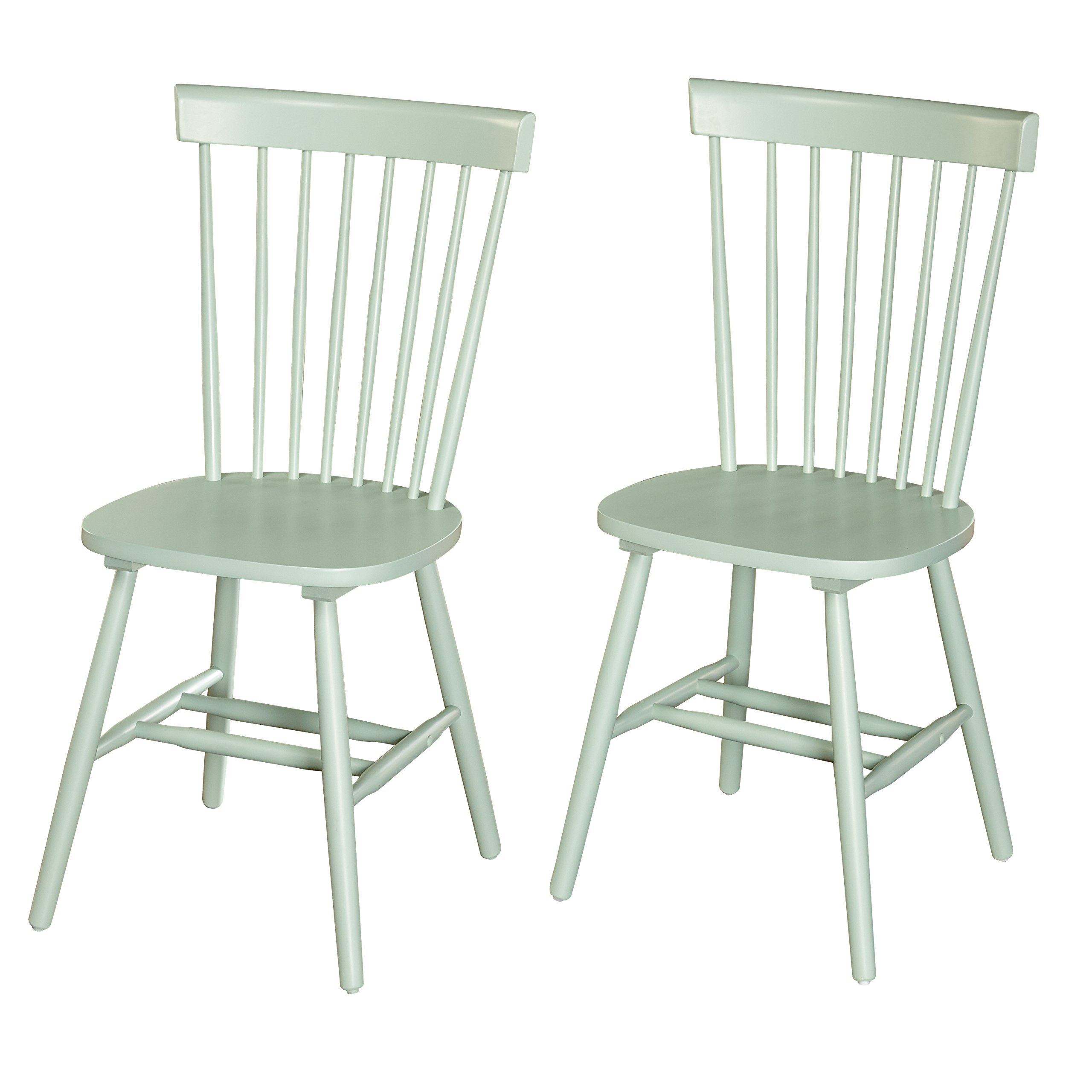 Target Marketing Systems 64918MIN PR Venice Set of 2 Dining Chairs, Mint