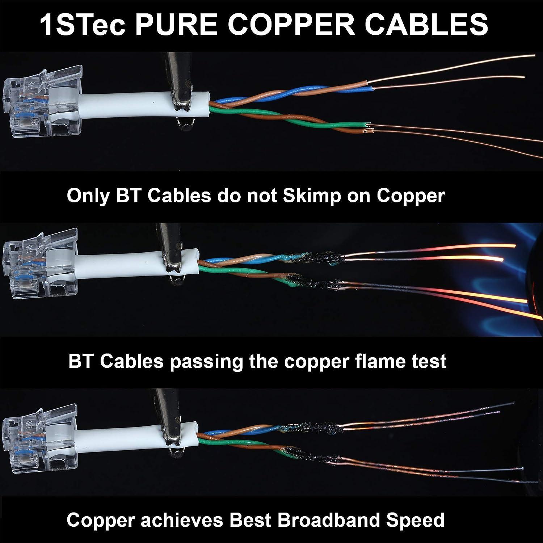 1stec 10m Adsl 2 Rj11 Modem Extension Cable For Bt Philex Cat5e Wiring Diagram Electronics