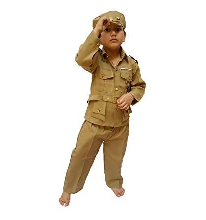 cdddbef5f328e Buy KAKU FANCY DRESSES Boy's and Girl's Police Costume ( Kfd87_5, Beige,  4-5 years) Online at Low Prices in India - Amazon.in
