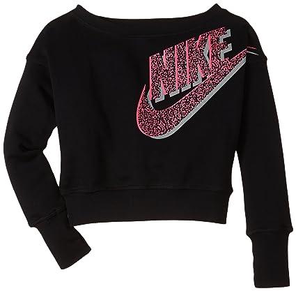 Nike Pullover SB Seasonal Crew - Sudadera para niña, color negro, talla L
