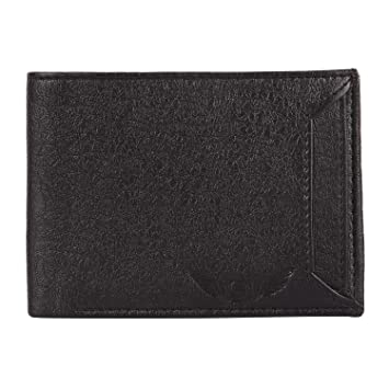 SKYDOVE Black Genuine PU Leather Wallet  10 Card Slots  for Men  amp; Boys  LCH 01  Wallets