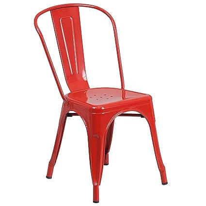 Bon Flash Furniture Metal Chair, Red