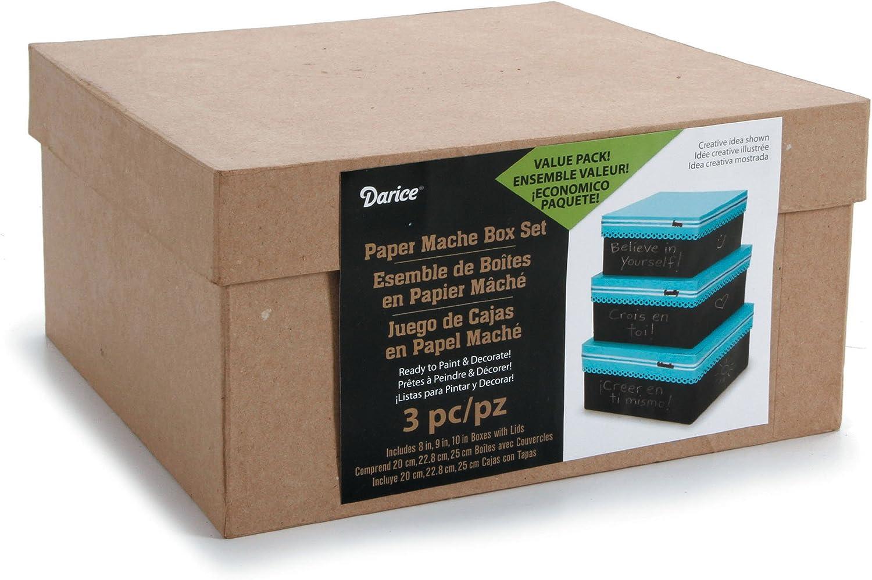 Amazon Com Darice 2849 06 Garden 3 Box Set Cardboard Box