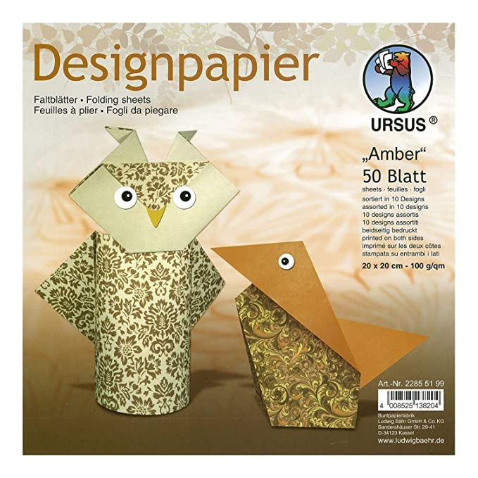 "Origami Blaetter , Ursus ""amber"" Design Paper Amazon Kitchen & Home"