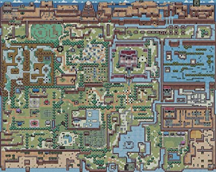 The Museum Outlet Charts Of Legend Of Zelda Map A3